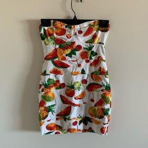 Talula Fruit Salad Strapless Mini Bandage Dress